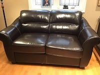 Dark brown leather hideabed single Barrie, L4M 0C3
