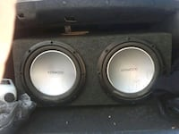 Two 12 in Kenwood speakers in box. Used not new Irving, 75038
