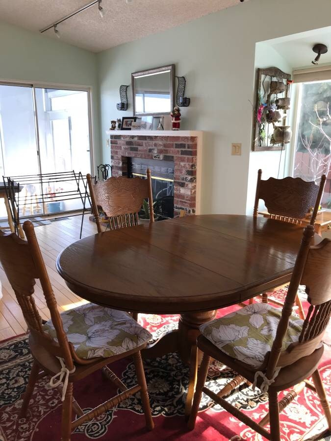 used real wood dining table set with four chairs for sale in reno rh us letgo com