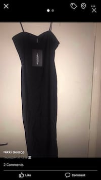 Slinky pretty little thing black dress, lovely satin material brand new with tags Leicester, LE3 3DX
