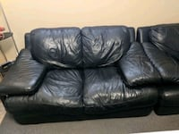 Pair of Real Leather love seats Surrey, V3W 0L7
