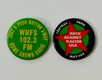 WHFS & Rock Against Racism Buttons Bethesda, MD, USA
