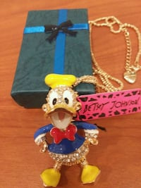 Adorable DONALD DUCK Pendant Necklace With Rhinest Bronx, 10472