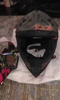 Altitude motocross/ snow mobile helmet with goggles
