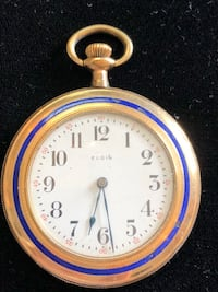Antique Pocket Watch with blue enamel Indio, 92201