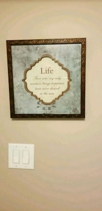 brown  framed wall decor
