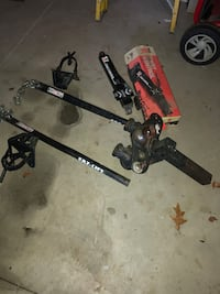 Weight distribution hitch, sway bar, complete kit.