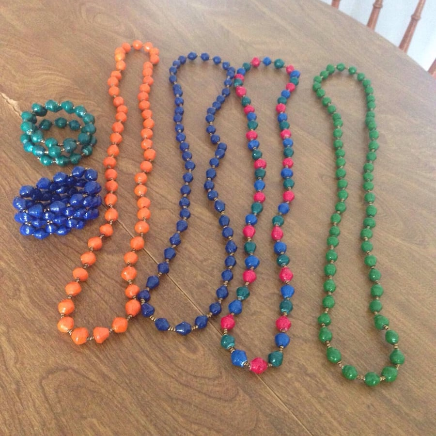 Beautiful beaded necklaces  and bracelets