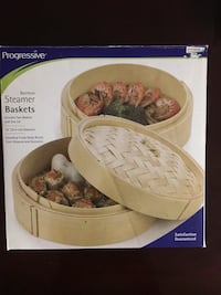 Brand new bamboo steamer baskets (includes 2 baskets and 1 lid) Laurel, 20723