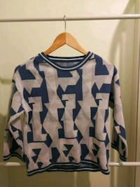 white and blue chevron long-sleeved shirt Auckland, 1150