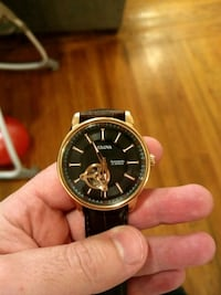 Rose Gold with leather band worn a few times. Hudson, 12534