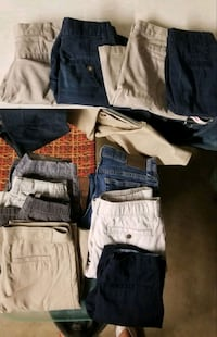 Boys uniform school shorts,few jean shorts,couple slacks,4 pairs jeans Alva, 33920