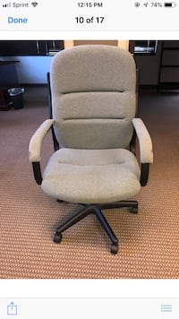 gray and black rolling armchair Reisterstown, 21136