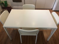 Ikea White Kitchen Table + 4 matching chairs  Vancouver, V6K