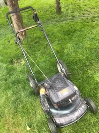 6 horsepower yardworks lawnmower with push button start