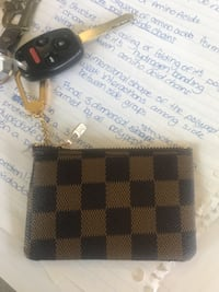 black and brown checkered Louis Vuitton leather wallet Surrey