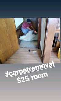 Carpet removal $25/room Minneapolis