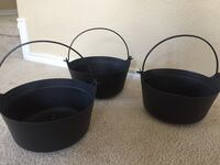 Set of 3 Small Black Plastic Witches Cauldron Fort Worth, 76131
