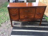 "Vintage ""Waterfall Style"" Art Deco Sideboard / Buffet Laurel, 20708"