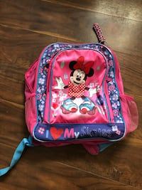 pink and blue Minnie Mouse backpack Stephenson, 22656
