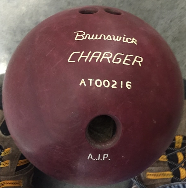 Used 25 Year Old Brunswick Charger Bowling Ball For Sale In North