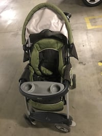 baby's gray and green stroller Glendale, 91206