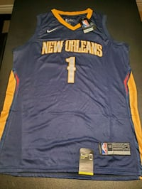 Zion Williamson New Orleans Pelican Jersey Blue Large Grimsby, L3M