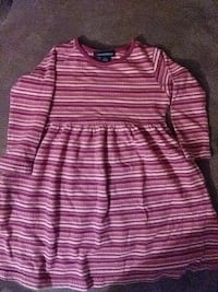 toddler's pink and white mini-dress Severn, 21144
