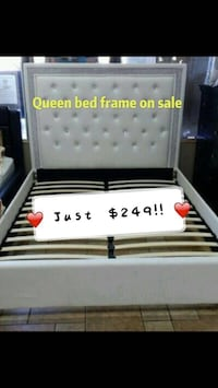 NEW Queen size white bed frame  Norcross