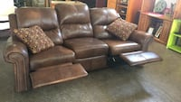 Real Leather Double Reclining Sofa Rayne, 70578