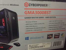Cyber Power Gaming Pc And Asus Gaming Monitor