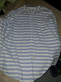 white and blue striped polo shirt Kenly, 27542