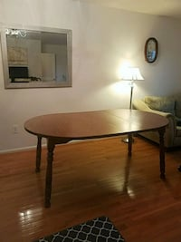 round brown wooden table with two chairs Olney, 20832