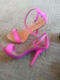 pair of pink open toe ankle strap heels Suffolk, 23434