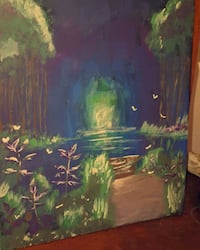 green and brown tree painting Barrie, L4M 6E8