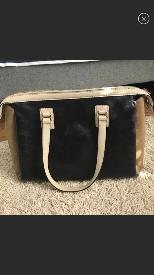 1518eabeb4be Used Marc by Marc Jacobs work shoulder bag leather black and tan for ...
