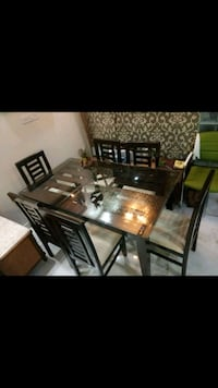 rectangular brown wooden table with chairs Bengaluru, 560072