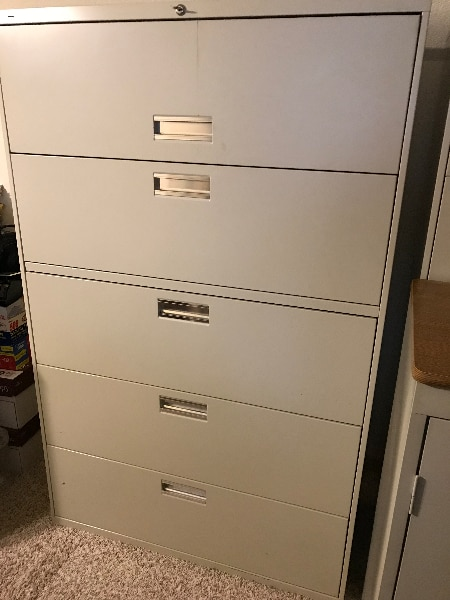 HON Lateral File Cabinet   Beige