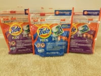 3 Tide pods 20 count each total 60 pods - $15 Rockville