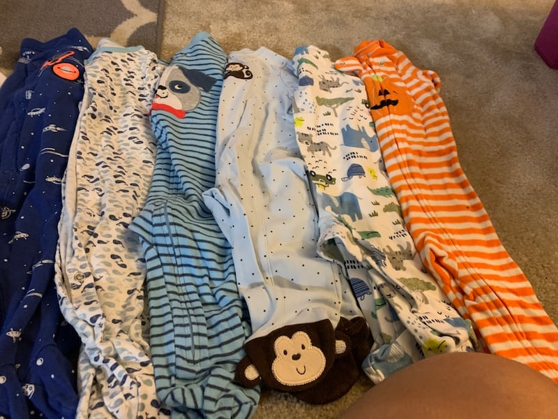 Baby clothes 9 months each $1 7
