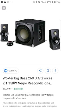 Altavoces Big bass 260 Barcelona, 08035