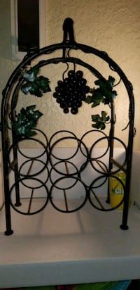 Nice Metal 6 bottle Wine Rack.