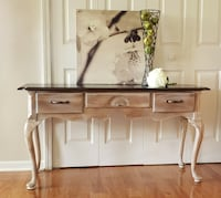 """Entryway / Sofa table...Rustic shabby chic 52"""" L × 27""""H ×16"""" D"""