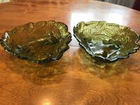 Vintage green glass dishes  Calgary, T2W 2H5