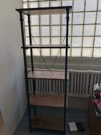 Black and brown 4-layer rack