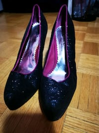 Women's black and pink sparkly shoes Barbie edition  Toronto, M2R 2C3
