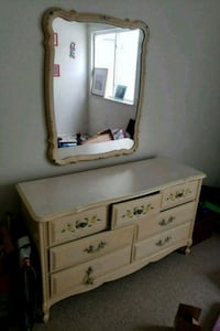 white wooden dresser with mirror Columbia, 21045