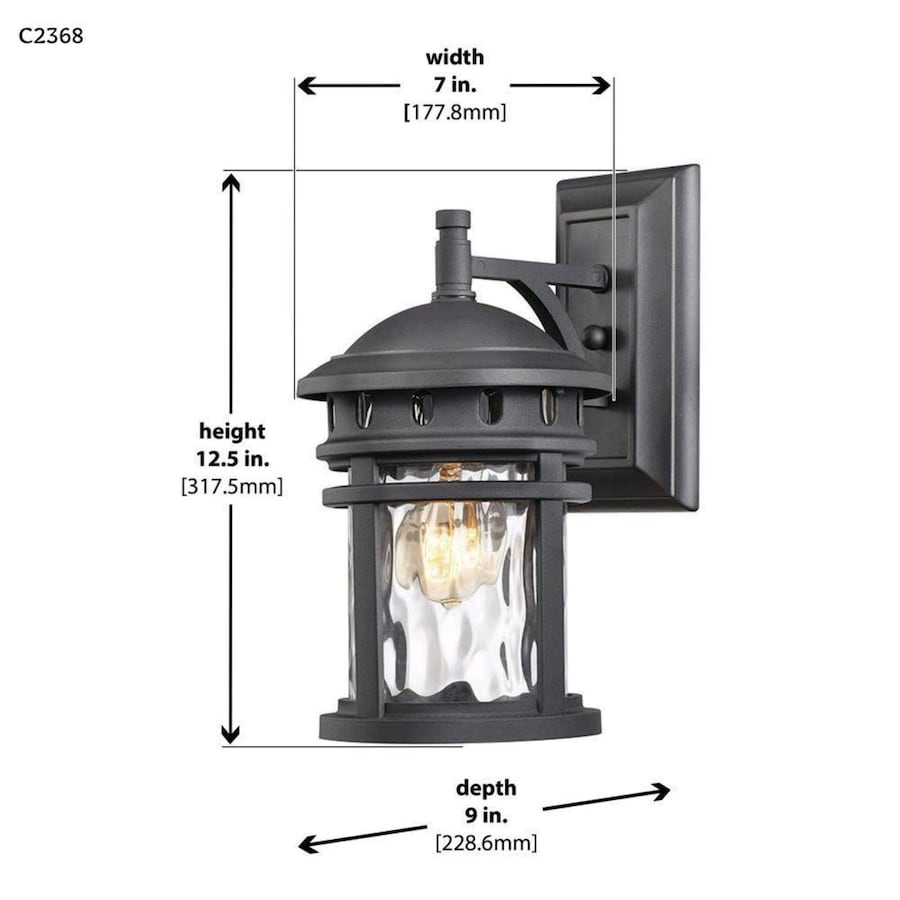 Light Black Outdoor Wall Lantern Sconce