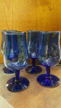 two blue glass footed cups Bartlesville, 74006