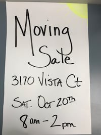 Moving Sale Sat Oct 20th 8-2pm New Windsor, 21776